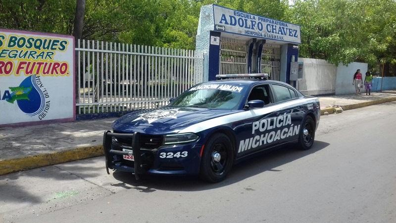Bajo el esquema del Mando Único Policial, la SSP será vigilante del orden social en todos los planteles de preescolar, primaria y secundaria ubicados en territorio michoacano