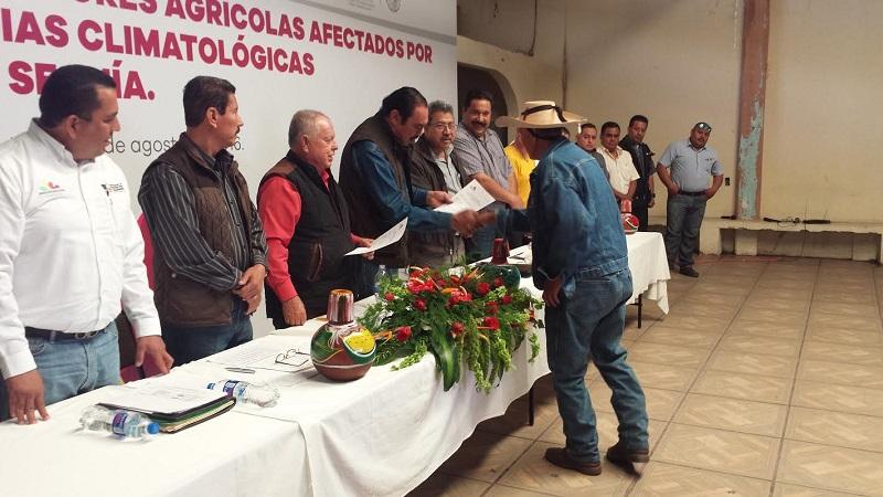 El delegado federal, Jaime Rodríguez López, invitó a los productores a asegurarse para que sus cultivos en el supuesto de una nueva afectación climatológica, puedan estar respaldados por las dependencias encargadas del sector