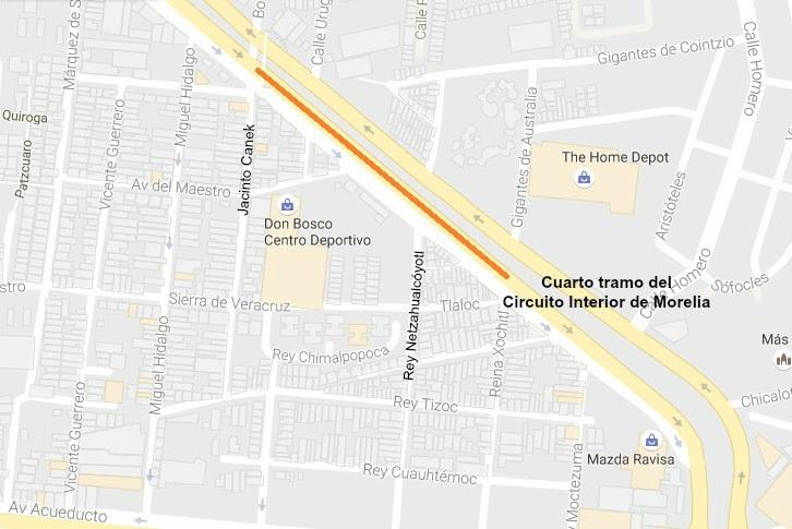 Mientras tanto, avanza la primera etapa en los tramos Granada – La Vallisoletana y sobre el lado poniente del distribuidor vial de la Salida a Charo, en los carriles superiores del túnel vehicular