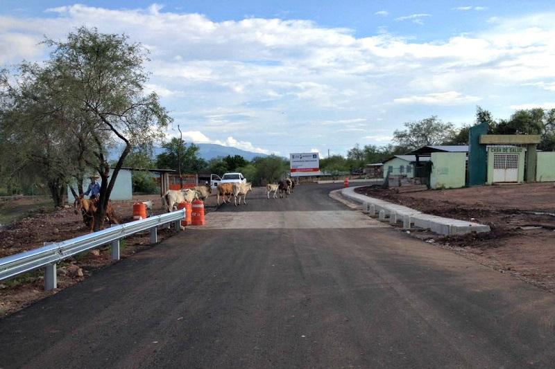 El puente, ubicado en Loma de Guayacán, municipio de Churumuco, comunicará de manera segura y ágil a esta localidad con la comunidad de Zicuirán, en La Huacana
