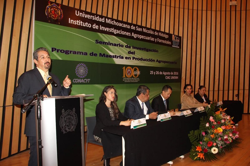 Durante la inauguración del Seminario de investigación de la Maestría en Producción Agropecuaria 2016, el rector consideró oportuno este anuncio