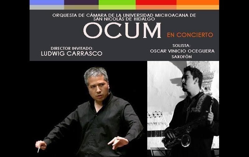 Como solista participará el saxofonista Oscar Vinicio Oceguera