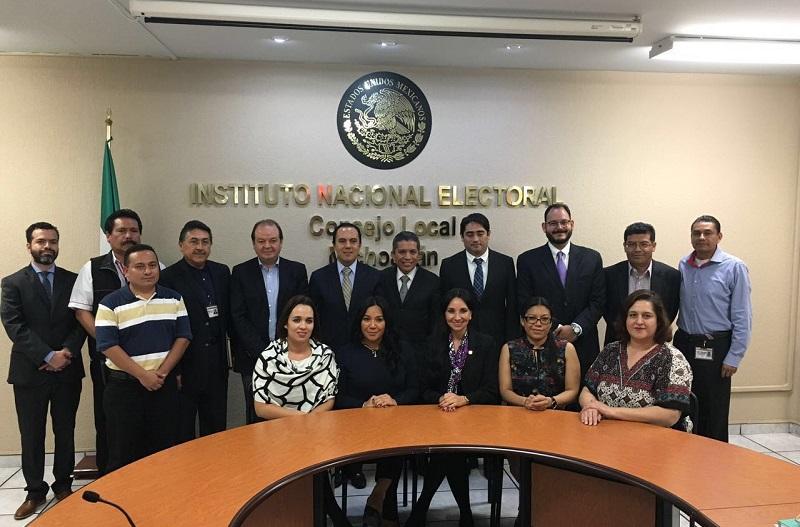El INE manifestó la total disposición y apertura del órgano electoral para colaborar con el gobierno municipal en la realización de los nuevos comicios en la Tenencia