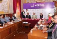 Analizan en Comisiones del Ayuntamiento de Morelia avances de obra pública 2016