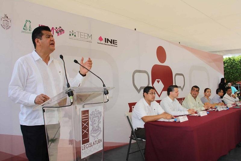 Se hará historia con propuestas e ideas que reforzarán la reforma electoral: Juan Bernardo Corona