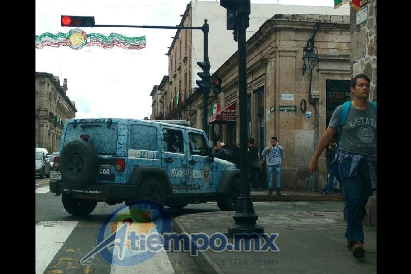 Desde su arribo a Morelia la Gendarmería ha sido cuestionada por su ineficacia y por no salir prácticamente para nada de la Zona Centro de la ciudad (FOTO: FRANCISCO ALBERTO SOTOMAYOR)