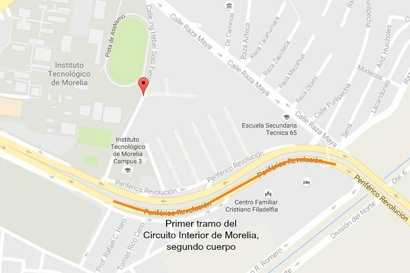 Arranca SCOP obra en sentido Poniente – Oriente del primer tramo del Circuito Interior de Morelia
