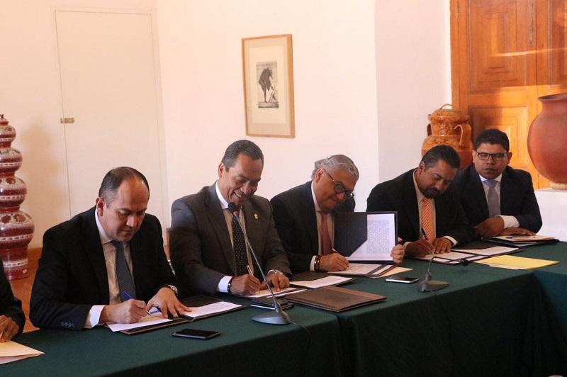 El convenio se da con el propósito de lograr la coordinación para la entrega de recursos económicos obtenidos de la aplicación de sanciones derivadas de infracciones cometidas por los partidos políticos
