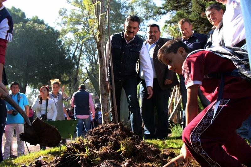 Con esta campaña también se busca restituir plantas o árboles viejos, así como otros que ya no existen o de los que sólo hay troncos