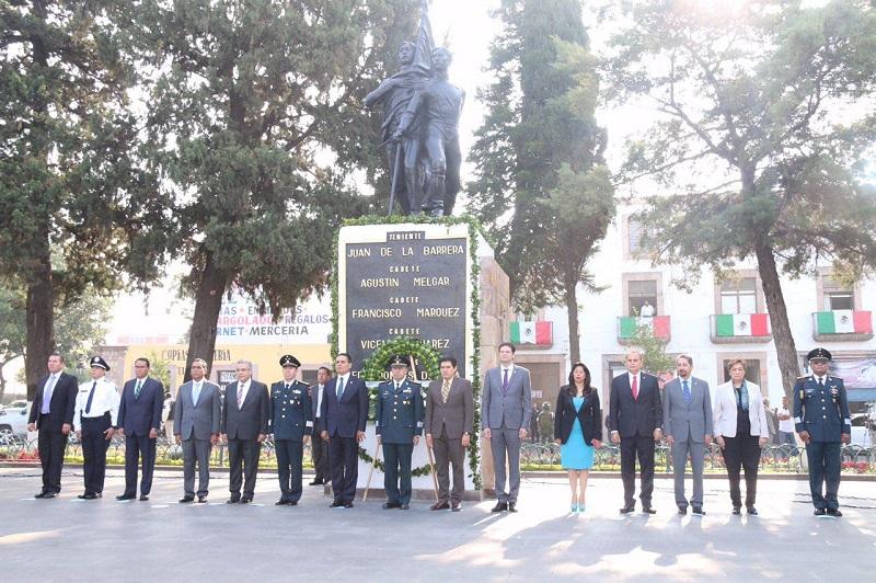 El alcalde Alfonso Martínez encabezó la conmemoración del CLXIX Aniversario de la Gesta Heroica de los Niños Héroes de Chapultepec