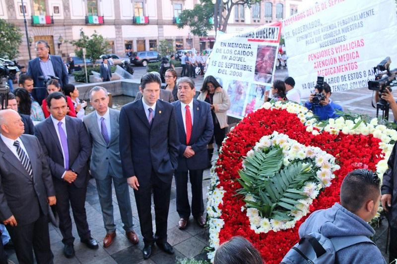 Martínez Alcázar externó la solidaridad del gobierno municipal con las familias que fueron víctimas del atentado y reconoció que este acontecimiento desafortunado