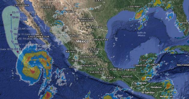 Por la trayectoria que presenta Paine es posible que esta se degrade antes de afectar a Baja California