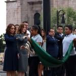 En esta ocasión también asistió personal del Sistema Michoacano de Radio y Televisión con su directora general, Gabriela Molina Aguilar, y del Colegio de Morelia, que encabeza Alejandro Amante Urbina
