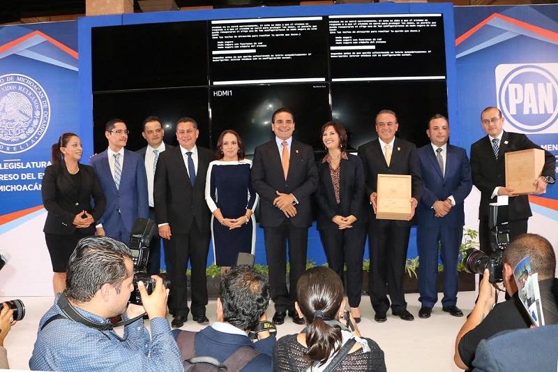 La bancada panista en el Congreso del Estado reafirmó su compromiso de trabajar por Michoacán