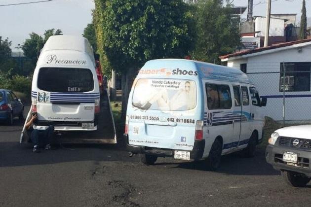 En la acción operativa también se detectaron colectivos y taxis infractores, los cuales fueron debidamente sancionados