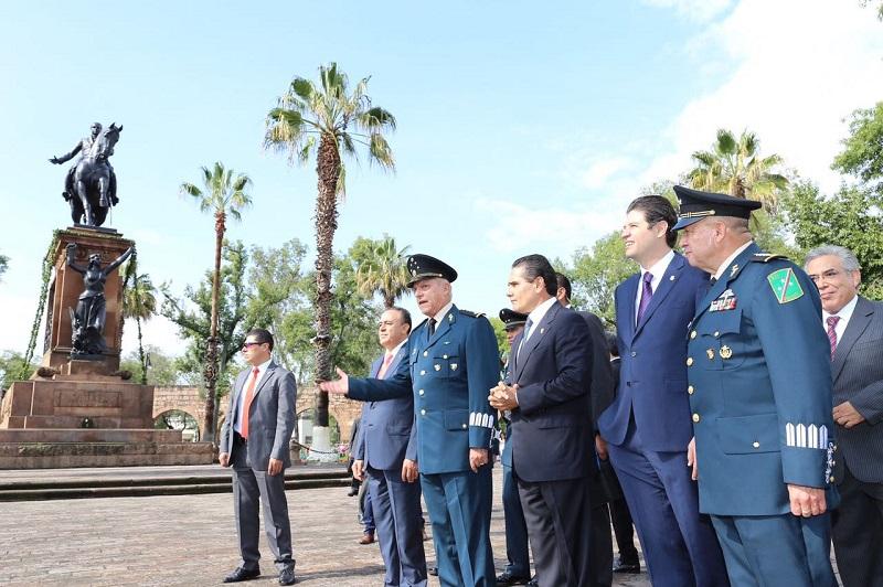 Conmemoran el gobernador de Michoacán y el secretario de la Defensa Nacional, el CCLI Aniversario del Natalicio del Generalísimo Don José María Morelos y Pavón
