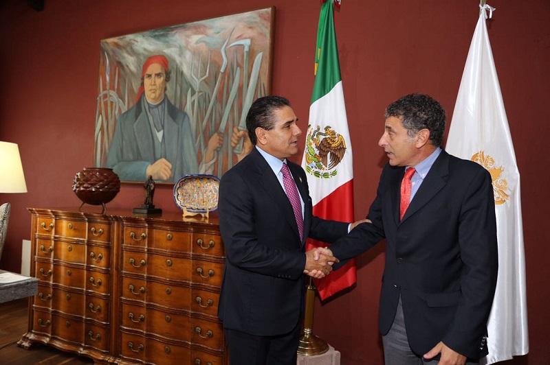 El gobernador Silvano Aureoles sostuvo una reunión con el representante de la UNODC en México, Antonio Luigi Mazzitelli
