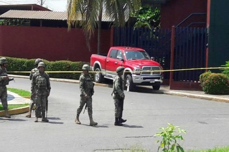 La dependencia informó que en el lugar se localizaron casquillos 9mm