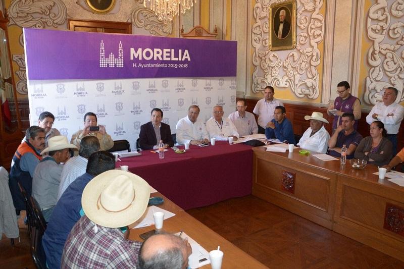 La Secretaría de Servicios Públicos Municipales sostuvo una reunión con autoridades auxiliares