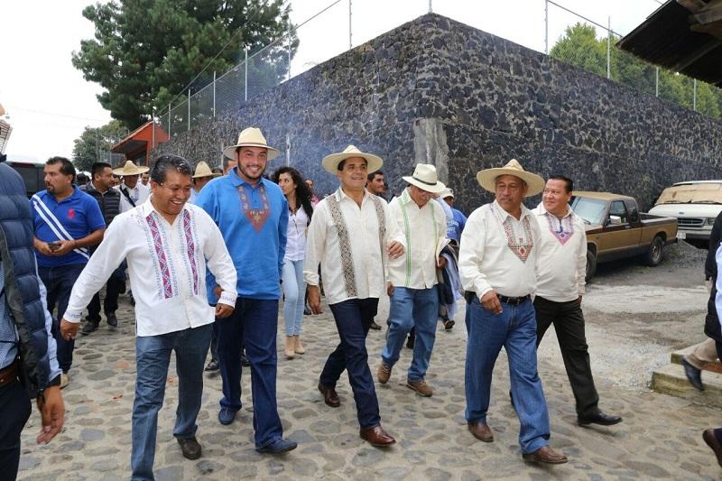 Además, Aureoles Conejo inauguró la XV Feria del Atole y la VII Muestra de Cocina Tradicional