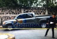 Fuentes de la SSP aseguran que a través de las cámaras de C5 se detectó que otro vehículo perseguía a la camioneta, pero no se encontraron personas ni se pudieron confirmar las características del otro automotor (FOTO: FRANCISCO ALBERTO SOTOMAYOR)