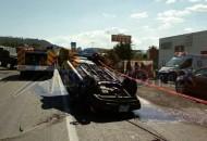 El siniestro se registró en el sentido de Morelia a Pátzcuaro (FOTO: FRANCISCO ALBERTO SOTOMAYOR)
