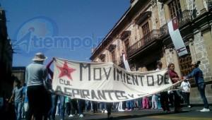 Escasa participación en la movilización de este martes (FOTO: MARIO REBOLLAR)
