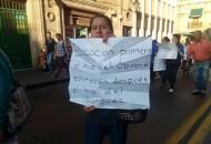 Entre los activistas se encuentra la líder sindical Guadalupe Pichardo Escobedo, últimamente muy vinculada con el Morena (FOTO: MARIO REBOLLAR)
