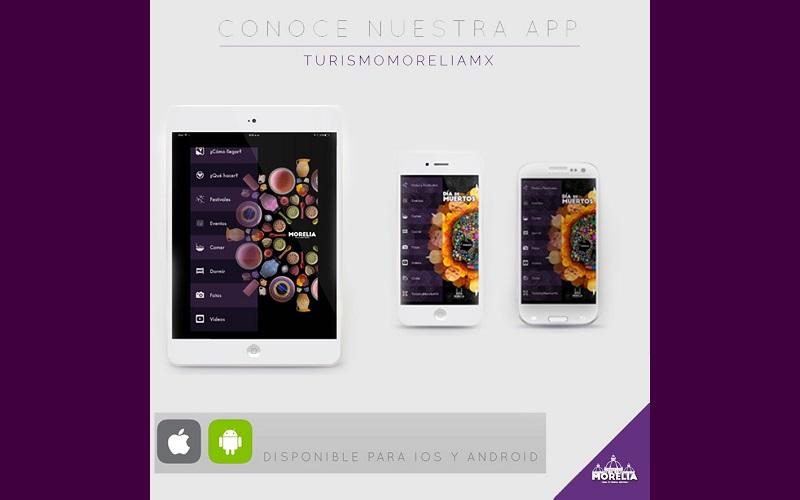Esta aplicación se encuentra en los sistemas de descargas con el nombre de Turismo Morelia MX y se podrá acceder de manera gratuita