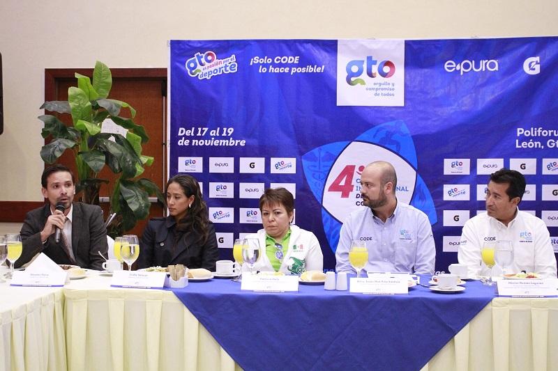 La información y trámite de inscripciones al Cuarto Congreso Internacional de Deporte, está disponible en la página de CODE: www.codegto.gob.mx