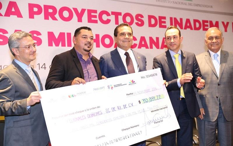 Aureoles Conejo destacó que fortalecerá su apoyo a la Iniciativa Privada para impulsar la inversión y generar más fuentes de empleo