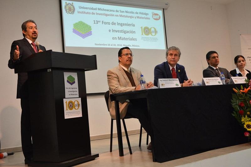 Serna González inauguró el 13er. Foro de Ingeniería e Investigación en Materiales