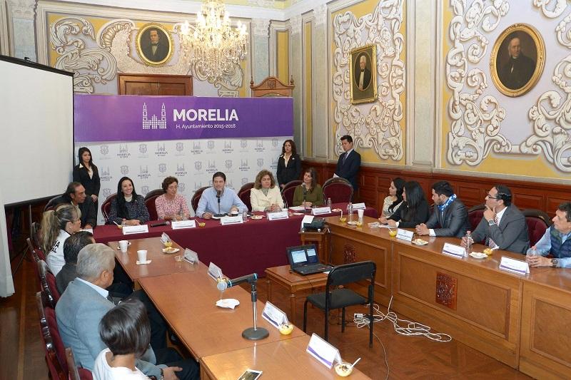 """El Ayuntamiento de Morelia buscará formar parte del programa global """"Ciudades y Espacios Seguros Para Mujeres y Niños"""" de la ONU Mujeres."""