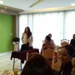 En nombre de la Asociación Mexicana de Mujeres Empresarias, capítulo Morelia Michoacán, la vice presidenta Georgina Correa, agradeció el apoyo que ha brindado la Secretaría de Desarrollo Económico y Emprendedor a las agremiadas a esta organización Civil