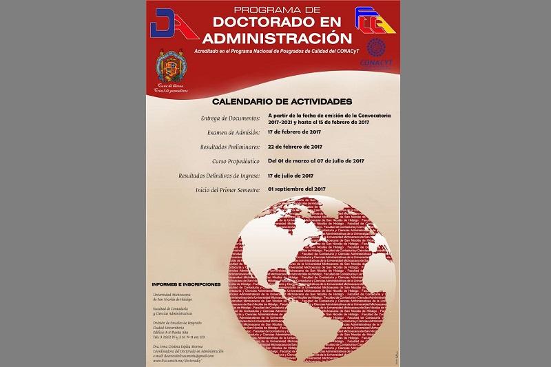 Dirigida a profesionales del área administrativa, para el periodo escolar 2017-2021