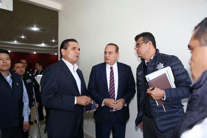 Aureoles Conejo anunció el reforzamiento de las tareas de seguridad, misma que inicia con un operativo que arrancó este lunes