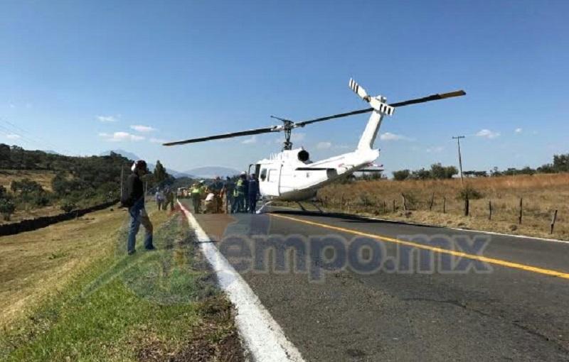 Fernando Torres Espinosa, quien resultó prensado y con traumatismo craneoncefálico, por lo que fue necesario su traslado en helicóptero a un hospital de la ciudad de Morelia