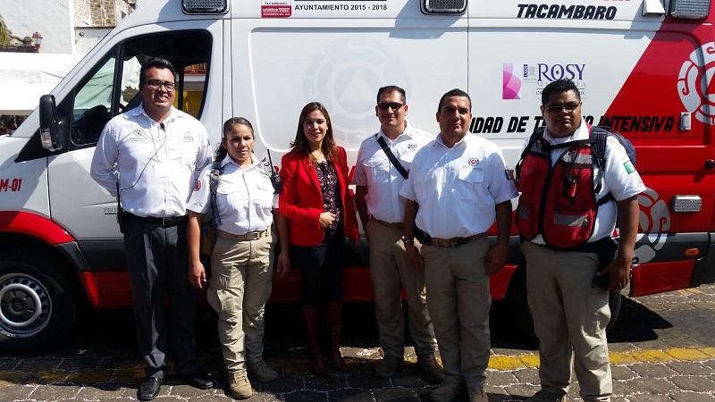 Miranda Arévalo dejó en claro que el tema de la salud es urgente por eso se le dio prioridad a la gestión de la ambulancia y a la brevedad posible adquirió esta unidad médica