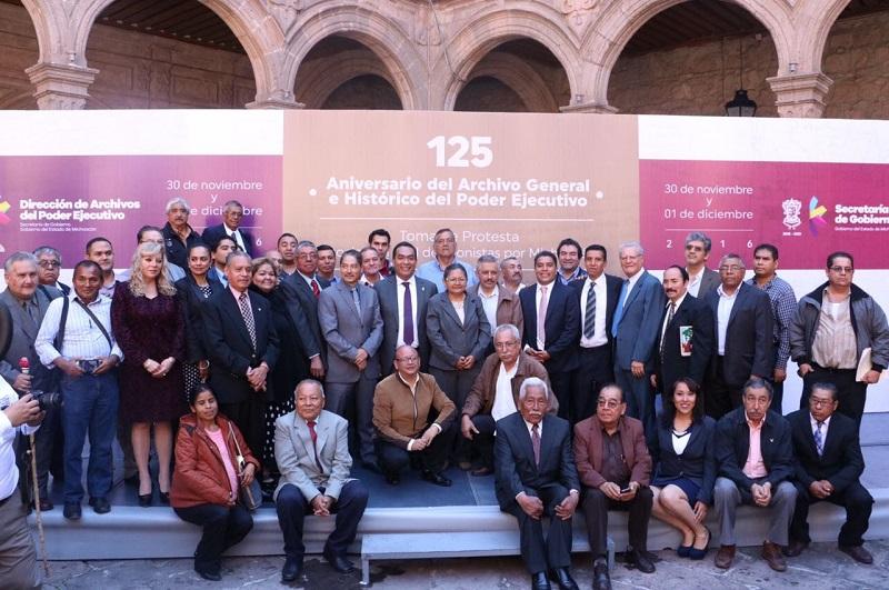El secretario de Gobierno encabezó el acto por el 125 Aniversario del Archivo General e Histórico del Poder Ejecutivo