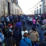 La calle Allende está cerrada, se recomienda a automovilistas, trabajadores del volante y usuarios del transporte público tomar las debidas precauciones