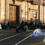 De acuerdo con el secretario general, Antonio Ferreyra, estas acciones continuarán hasta recibir los pagos del Gobierno de Michoacán (FOTO: FRANCISCO ALBERTO SOTOMAYOR)
