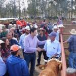 Martínez Alcázar exhortó a los productores a mejorar la calidad del ganado para evitar tener que importarlo de otros estados y se mostró complacido con las 55 cabezas entregadas