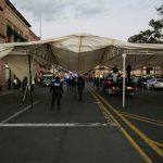 Los antorchistas se manifestaron por inconformidades que tienen en el sector transportista del municipio de Ario de Rosales