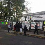 Esta mañana, tomado el Centro Estatal de Atención Oncológica en Morelia (FOTO: URBISTV)
