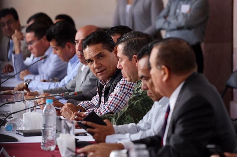 En el encuentro, se acordó mantener las acciones coordinadas de combate a los grupos delictivos con trabajos operativos y de inteligencia