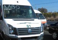 El vehículo afectado es una camioneta tipo Van con número económico 01 y placas de circulación 435-005-N