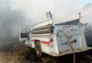 En cuatro días de intenso trabajo fue necesario el apoyo de una máquina retroexcavadora para sofocar el fuego (FOTOS: FRANCISCO ALBERTO SOTOMAYOR)