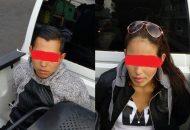 Los detenidos responden al nombre de Alexis A. de 25 años de edad y Griselda G. de 29 años, ambos, con domicilio en esta ciudad capital