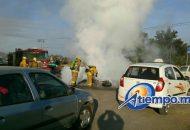 La emergencia se registró a las 8:36 horas y fue atendida por Policía Michoacán de Tarímbaro, así como por paramédicos de Protección Civil municipal