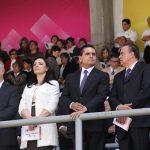 En el evento estuvieron presentes el gobernador del Estado, Silvano Aureoles, así como autoridades eclesiásticas, funcionarios municipales, estatales y federales